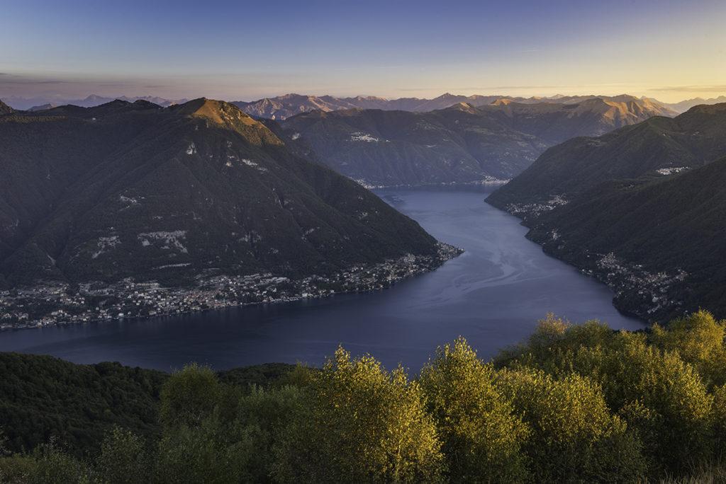panorama lago Como trekking polenta funghi